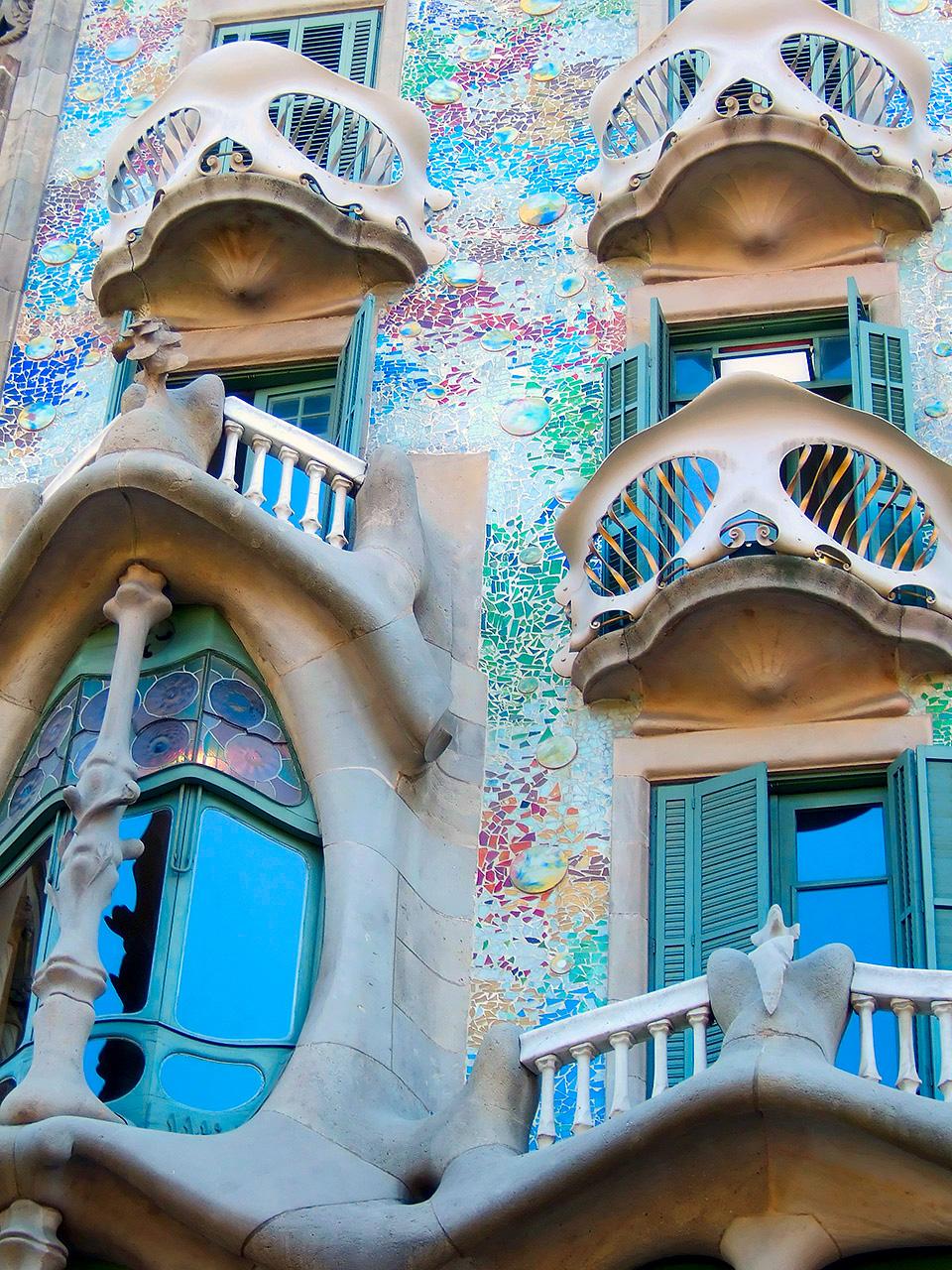 Gaudi och Barcelona hör ihop, här Casa Batllo