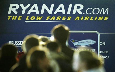 Ryanair erbjuder bara incheckning online