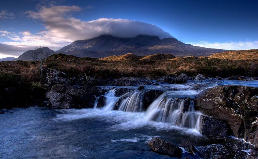 Vackra Isle of Skye, Skottland