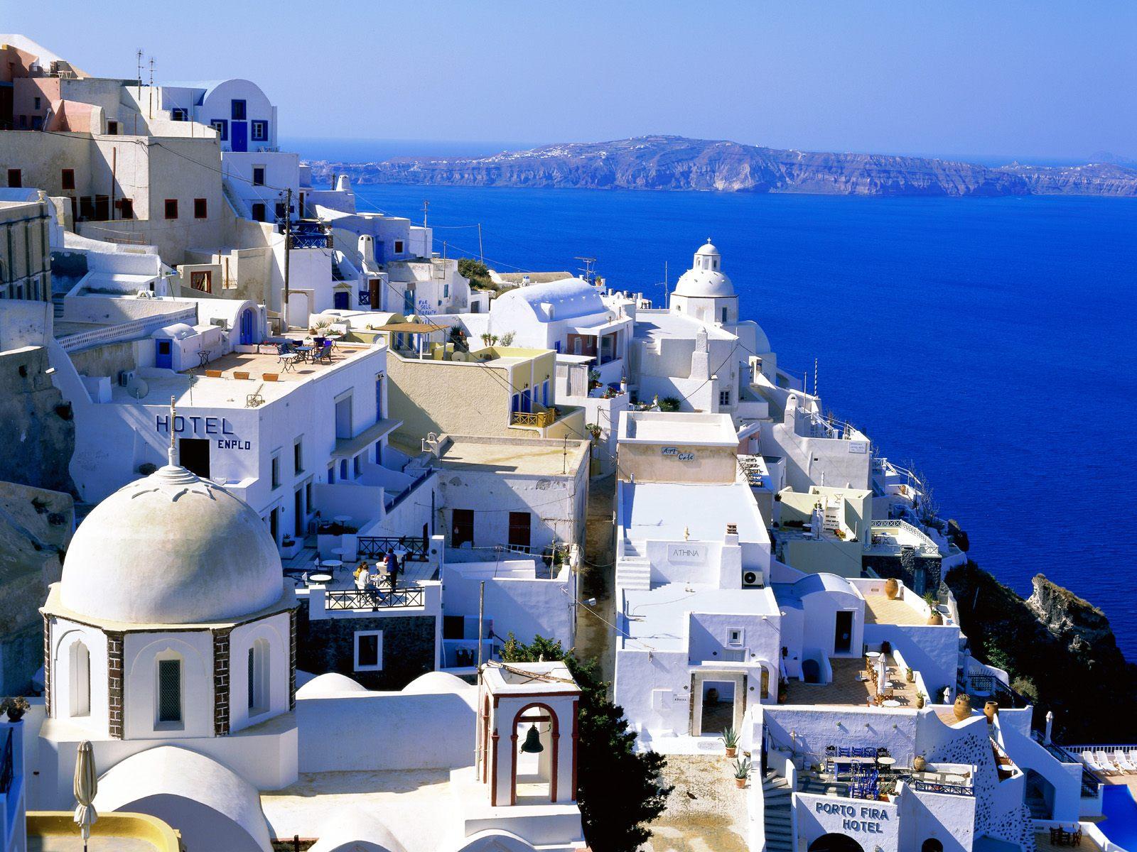 Grekiska paradisön Santorini