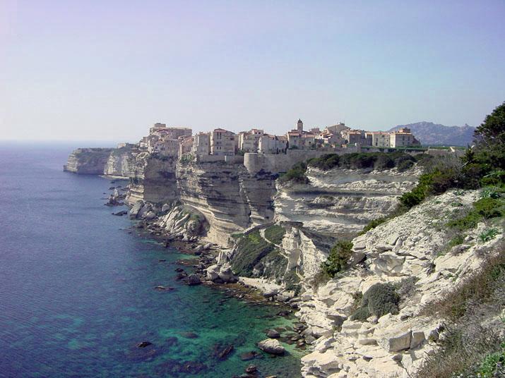 Vackra Bonifacio på Korsika