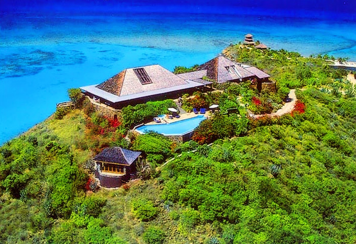 Necker Island ägs av Sir Richard Branson