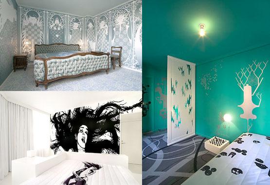 Tre rum i designhotellet Fox i Köpenhamn