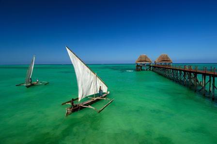 Ön Zanzibar erbjuder ett varmt hav