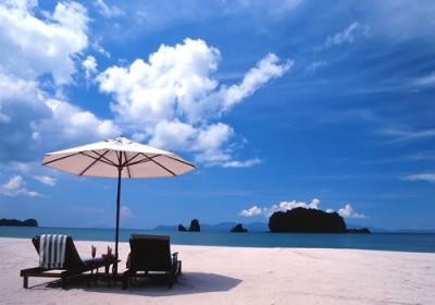 Stranden vid Tanjung Rhu