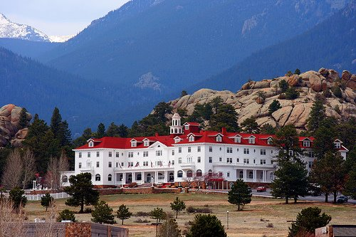 "Stanley Hotel där Stephen Kings thriller ""The Shining"" spelades in..."